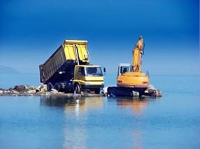 Excavator and dumper