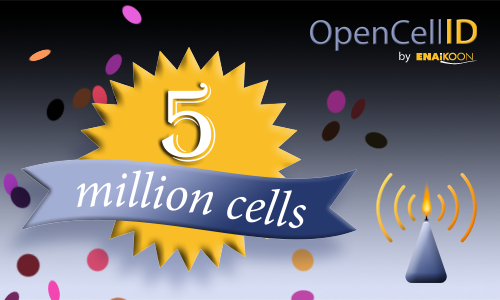 OpenCellID 5 million cells