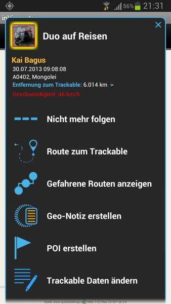 trackables pop-up