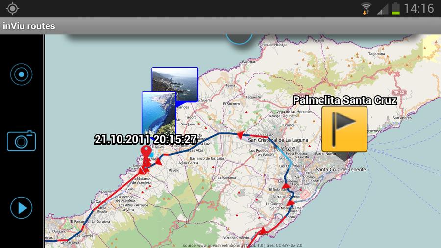 rutas en el mapa