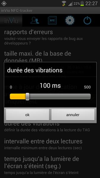 inViu NFC-tracker details
