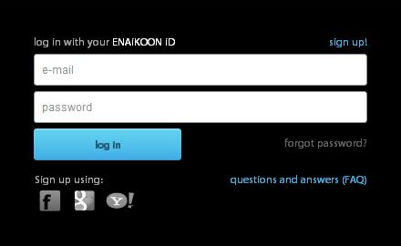 Connectez-vous avec votre ENAiKOON iD
