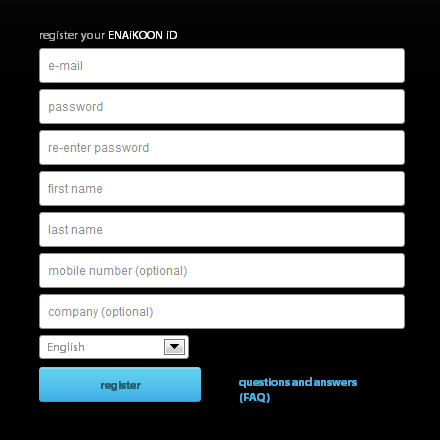 Enregistrez votre ENAiKOON ID